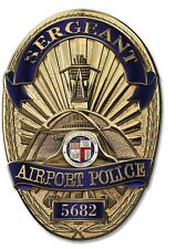 Los Angeles Airport Police Department (Sergeant) Badge all Metal Sign w info