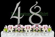 Large Rhinestone NUMBER (48) Cake Topper 48th Birthday Wedding Party Anniversary