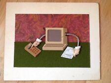 Original Naiad & Walter Einsel 3D art sculpture. US Stamp Artist-Listed