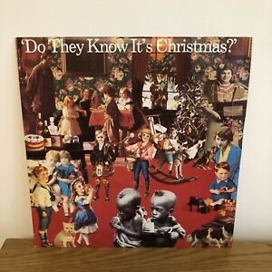 BAND AID DO THEY KNOW IT'S CHRISTMAS FEED THE WORLD FEED 112 UK VINYL 12