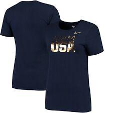Women's Nike Navy Team USA Gold T-Shirt Tokyo 2020 Size L