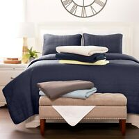 Luxury Ultra Soft Square Quilted 3 Piece Coverlet Set - Sharon Osbourne Home