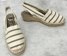 La Maison de L'espadrille Striped Canvas Demi Wedge size 37 US 6