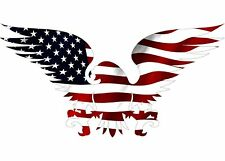 American Eagle USA Flag Car Truck RV Decal Window Patriotic Auto Bumper Sticker