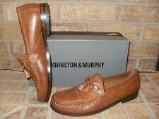 Johnston & Murphy Tan Calfskin Aragon II Kiltie Tassel Loafer Men 13 M