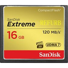 16GB SanDisk Extreme CompactFlash CF Card 120M/S SDCFXS-016G For CANON SONY DSLR