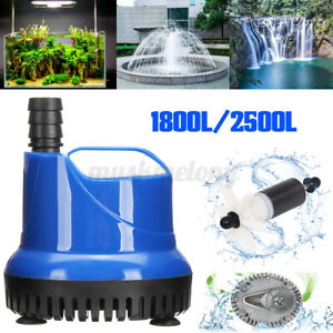 1800-2500L/h Submersible Waer Pump Aquarium Fish Founain Hydroponic EU/US   Ц