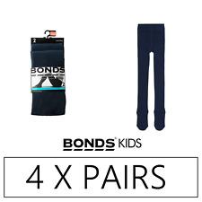 4 x BONDS KIDS SCHOOL TIGHTS - Navy Stockings