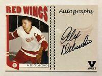 2004-05 ITG Franchises US West Autographs Alex Delvecchio Auto Vault Version SP
