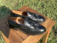 ALLEN EDMONDS MENS BLACK BROOKWOOD TASSEL LOAFERS 8E US