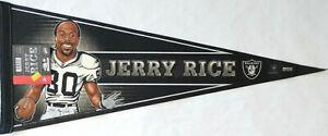 "Oakland Raiders Jerry Rice Collectors Felt Pennant 12"" x 30"""