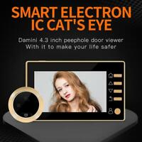 W10 4,3 Zoll HD LCD Digital Türklingel Türspion Kamera Viewer Türklingel