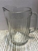 """Vintage Clear Glass 8.5"""" Water/Juice Pitcher"""