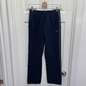 Adidas Youth Navy 3 Stripe Fleece Straight Leg Sweatpants Size XL