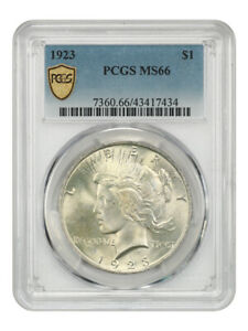 1923 $1 PCGS MS66 - Peace Silver Dollar