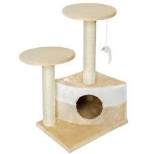 Rascador para gatos Árbol para gatos Sisal Juguetes beige-blanco
