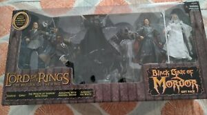 The Lord Of The Rings Black Gate Of Mordor 6-Figure Mouth of Sauron & Steed New