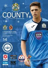 14 Stockport County V Spennymoor Town 2017-18 National League North Programme