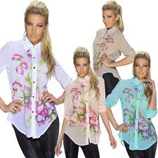 Geblümte Damenblusen, - tops & -shirts mit klassischem Kragen-Blusen
