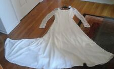 MON CHERI WEDDING DRESS/GOWN NEW WITH TAGS LACE SLEEVES NEVER WORN SIZE 12