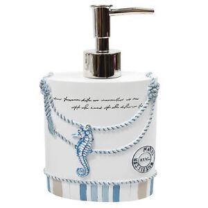 Beach Life Bath Accessory Collection Bathroom Lotion/Soap Dispenser