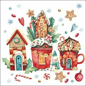 Ambiente Paper Napkins, Pack of 20, 3-ply Lunch Size Magical Christmas