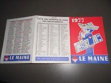 CALENDRIER DEPLIANT PUBLICITAIRE LE MAINE 1977