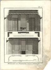 Stampa antica LAVORAZIONE LEGNO Pl 9 Enciclopedia Diderot 1790 Old antique print