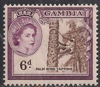 Gambia 1953 - 59 QE2 6d Palm Wine Tapping Umm SG 177 ( J1110 )