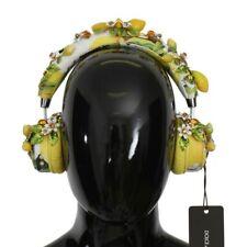 NEW DOLCE & GABBANA Headphones Leather Lemon Crystal Wireless Headset
