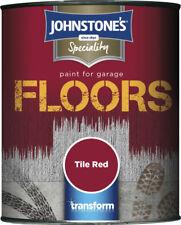Johnstones Garage Floor Paint Semi Gloss Tile Red Colour 250ml