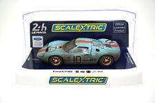 Scalextric C4105 Ford GT40 Gulf #10 degradado 24 horas le mans'68 1/32 ranura de coche