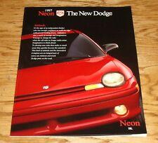 Original 1997 Dodge Neon Deluxe Sales Brochure 97 Highline