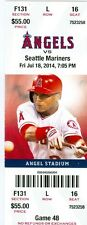 2014 Angels vs Mariners Ticket: Efren Navarro singled home a run in 16th inning