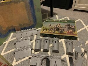 Vintage Timpo Toys Medieval Castle Playset Toy Plus Box 1960's? Britain As-is