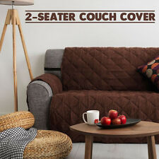 Couch Cover 2 Seater Removable Fabric Sofa Slip Throw Protector Furniture BROWN