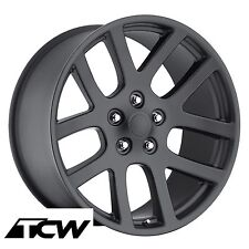"(4) 20x9"" Dodge Ram SRT10 OE Replica Matte Black Wheels Rims 5x5.5 5x139.7 +25.4"