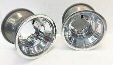 "DWT Polished A5 Rolled Lip ATV Rear Wheel PAIR 9"" 9x8 3+5 4/110 LTR450 LTZ400"