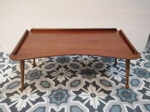 Bed Tray Breakfast Table Laptop Desk Mid Century Vintage Teak - Paragon Superior
