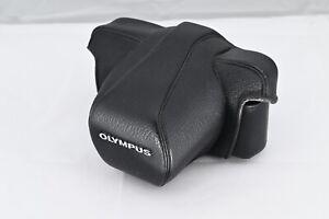 Olympus OM1 - vintage black leather case (Item #1022) £1 Start price - NO RESERV
