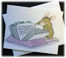 Vintage Ellen Jareckie House Mouse It's About Time I Wrote E107 Rolodex Card