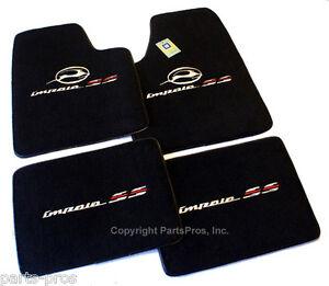 New Black 4-Piece Premium Logo Floor Mat SET / FITS 2000-2005 CHEVY IMPALA SS