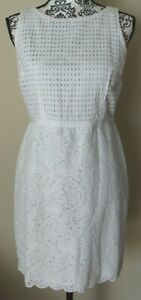NWT ANN TAYLOR LOFT Petites white sleeveless lined sheath dress, Size 6P