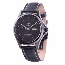 LUCH Automatic Wristwatch. Mechanical SELF-WINDING Russian Watch Black 735939226