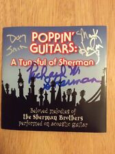 SIGNED - Richard Sherman CD Poppin' Guitars: A Tuneful Of Sherman + Pics Disney
