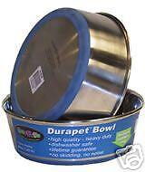 Durapet Non Slip Stainless Steel Dog Cat Food & Water Bowl 0.35 litre