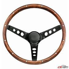 "Grant -13.5"" Hardwood Walnut Classic Wood Steering Wheel w/ Rivets & 3-Spoke 313"