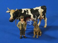 Verlinden 1/35 Farm Boy with Cow and German Shepherd Dog WWII (3 Figures) 2631