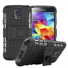Carcasa Híbrida 2 piezas Exterior Bolsillo Negro funda para Samsung Galaxy S5