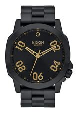 "NIXON ""RANGER 45"" A521-1031-00 45MM ALL BLACK/GOLD MENS WRISTWATCH"